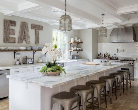 厨房地中海风格效果图大全2017图片_土拨鼠精致摩登厨房地中海风格装修设计效果图欣赏