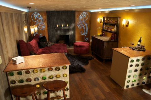 地下室混搭风格装修效果图大全2017图片_土拨鼠休闲写意地下室混搭风格装修设计效果图欣赏