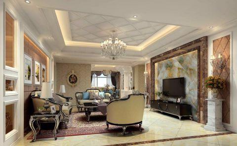 武汉江夏区高级公寓10万简欧风格装修效果图