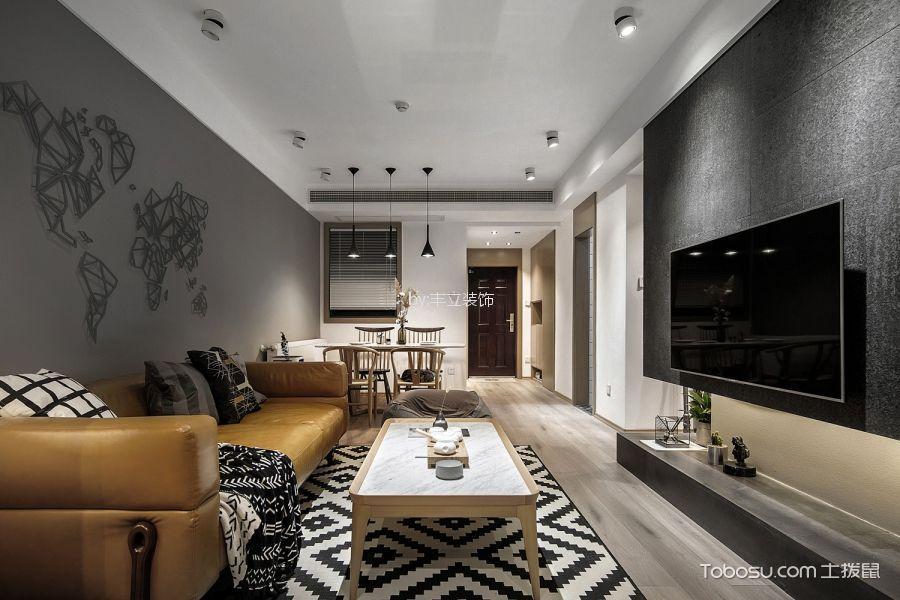 橄榄郡84平现代风格二居室装修效果图