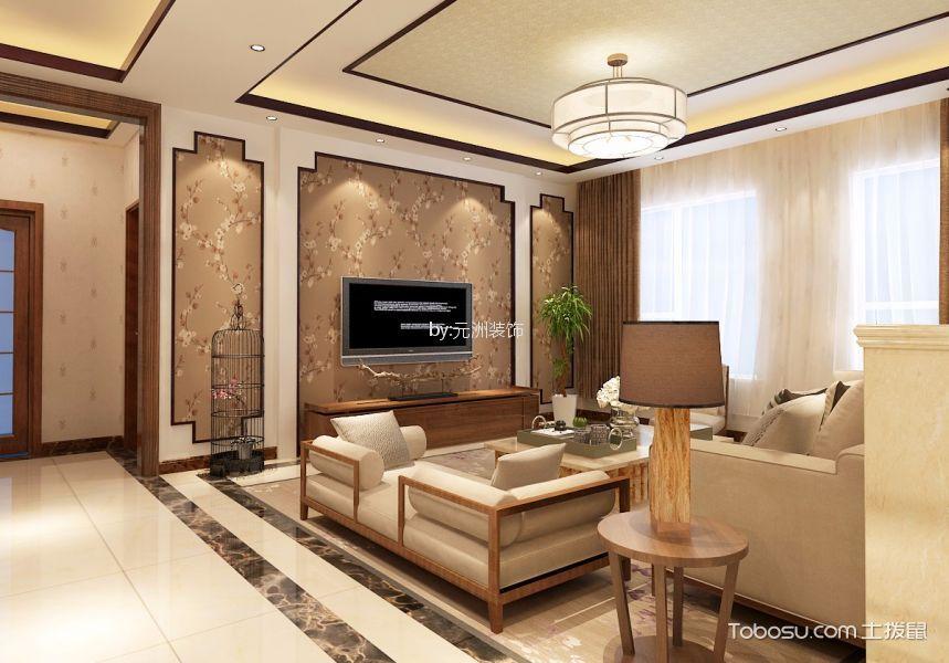 舜兴东方157平中式风格三居室效果图