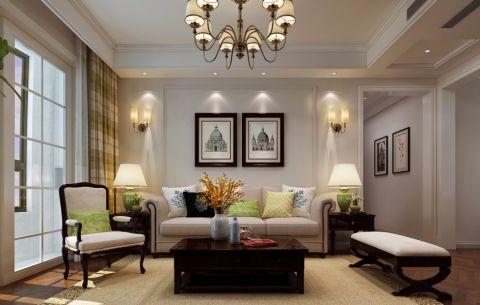 财富中心143平美式三居室效果图
