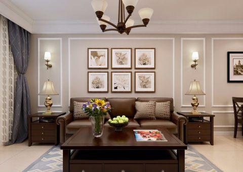 财富中心101平美式三居室装修效果图