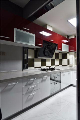 厨房白色厨房岛台简约风格装饰图片