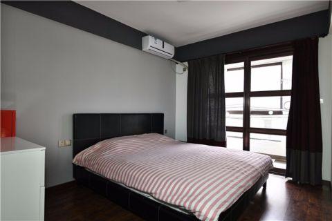 卧室黑色床简约风格装修设计图片