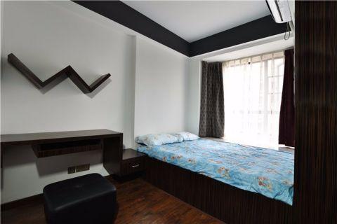 卧室黑色榻榻米简约风格装饰设计图片
