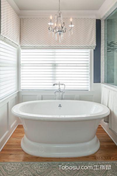 浴室白色灯具美式风格装饰效果图