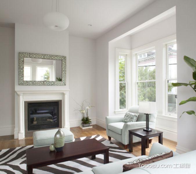 客厅白色窗台现代风格装潢图片