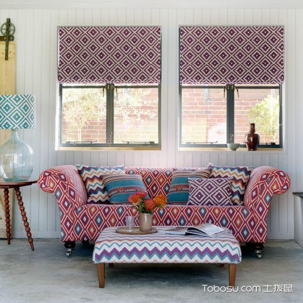 客厅白色窗台混搭风格装修设计图片