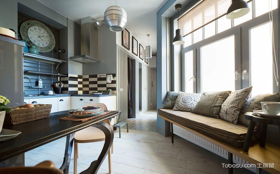 客厅米色飘窗混搭风格效果图