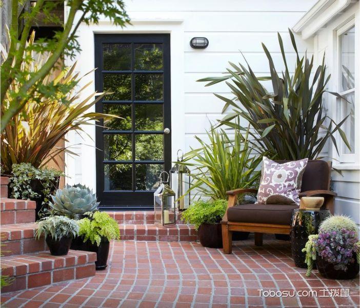 阳台走廊美式风格装饰效果图