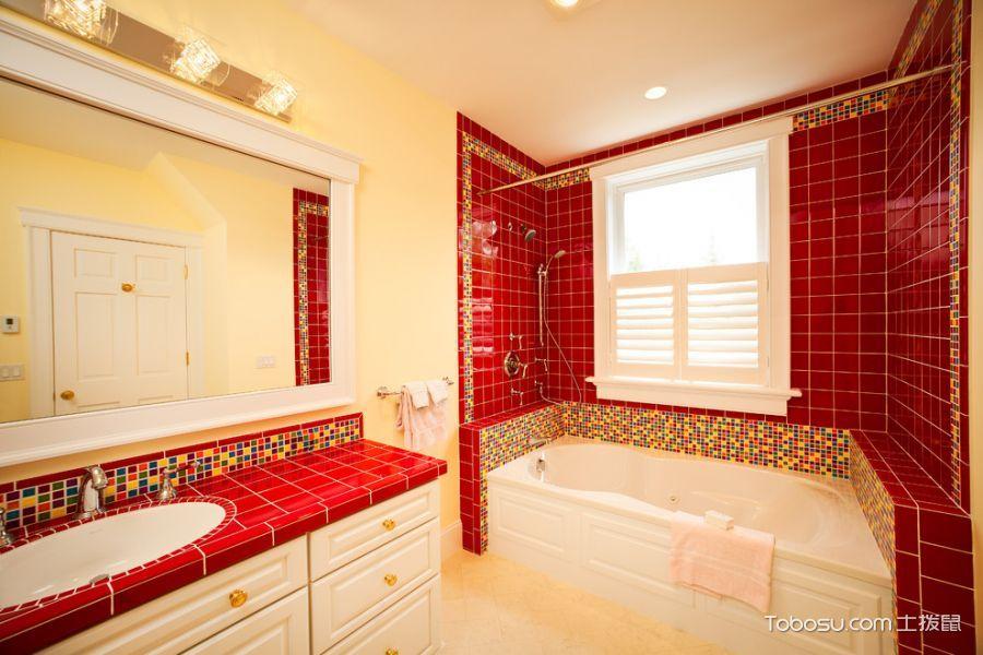 浴室窗台混搭风格装饰效果图