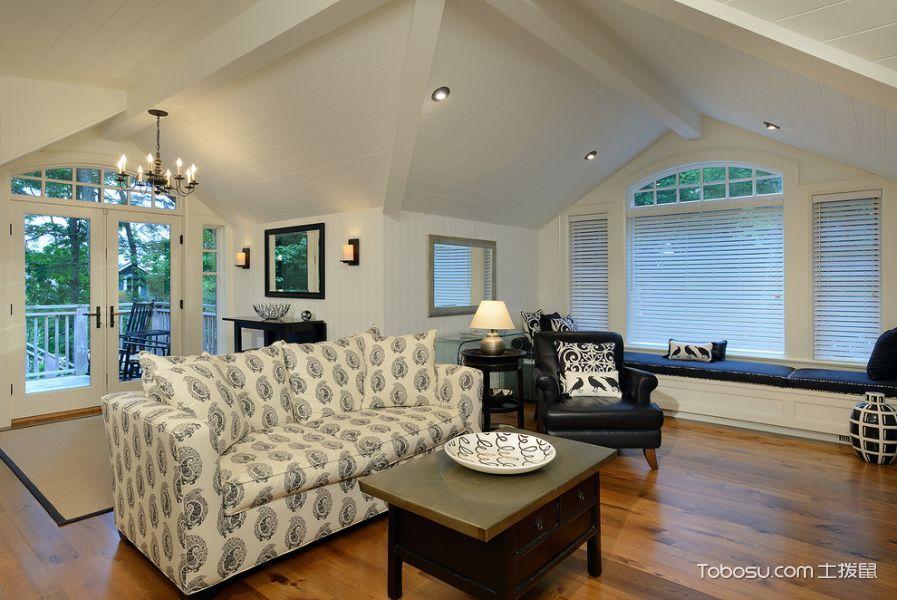 客厅白色吊顶现代风格装饰图片_土拨鼠装修效果图