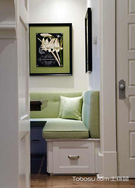 厨房绿色隔断混搭风格效果图