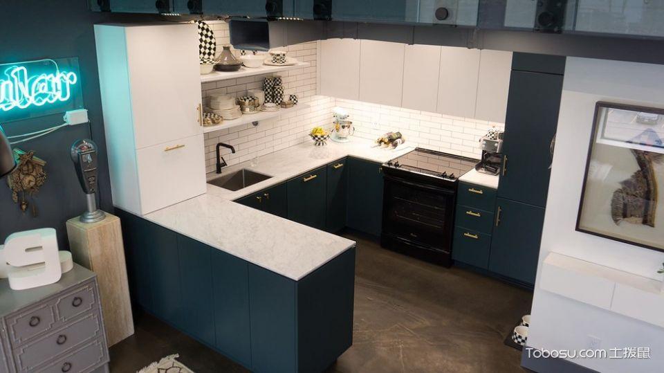 厨房白色隔断混搭风格装饰设计图片