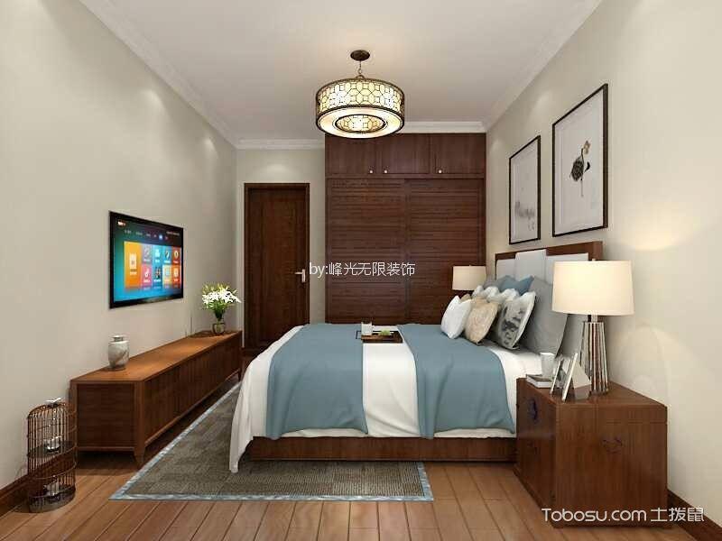 卧室咖啡色衣柜新古典风格装潢图片