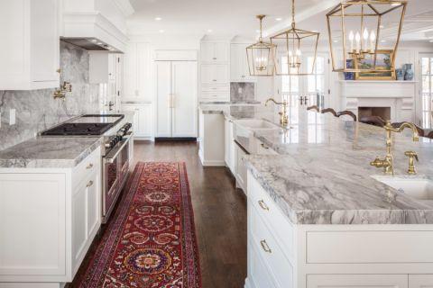 厨房美式风格效果图大全2017图片_土拨鼠典雅纯净厨房美式风格装修设计效果图欣赏