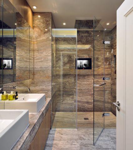 浴室现代风格效果图大全2017图片_土拨鼠温馨淡雅浴室现代风格装修设计效果图欣赏
