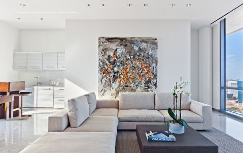 客厅现代风格效果图大全2017图片_土拨鼠浪漫写意客厅现代风格装修设计效果图欣赏