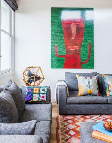 客厅混搭风格效果图大全2017图片_土拨鼠温暖淡雅客厅混搭风格装修设计效果图欣赏