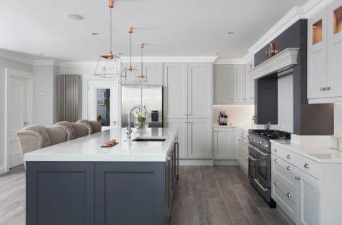 厨房美式风格效果图大全2017图片_土拨鼠现代风雅厨房美式风格装修设计效果图欣赏