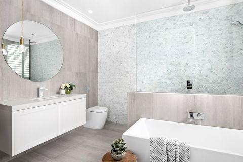 浴室现代风格效果图大全2017图片_土拨鼠完美质感浴室现代风格装修设计效果图欣赏