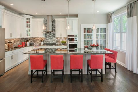 厨房美式风格效果图大全2017图片_土拨鼠干净沉稳厨房美式风格装修设计效果图欣赏