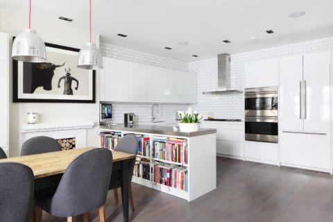厨房现代风格效果图大全2017图片_土拨鼠简约优雅厨房现代风格装修设计效果图欣赏
