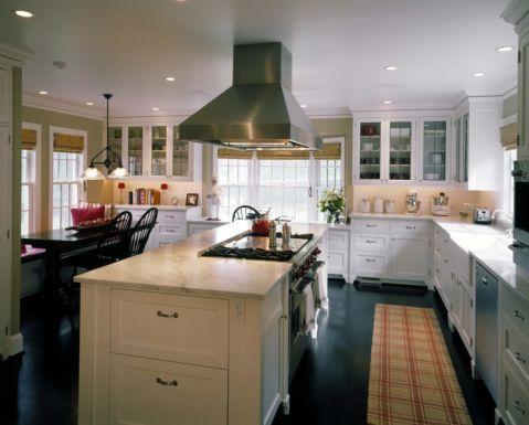 厨房美式风格效果图大全2017图片_土拨鼠大气迷人厨房美式风格装修设计效果图欣赏