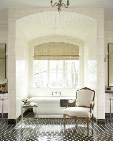浴室美式风格效果图大全2017图片_土拨鼠大气唯美浴室美式风格装修设计效果图欣赏