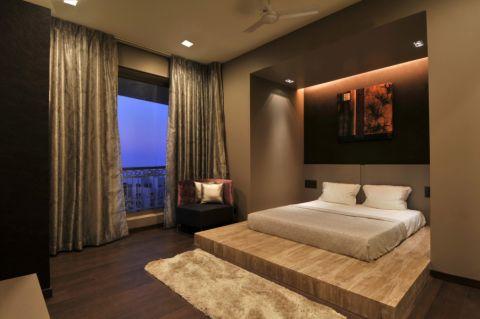 卧室现代风格效果图大全2017图片_土拨鼠干净奢华卧室现代风格装修设计效果图欣赏