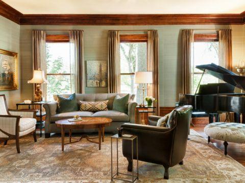 客厅美式风格效果图大全2017图片_土拨鼠简洁自然客厅美式风格装修设计效果图欣赏
