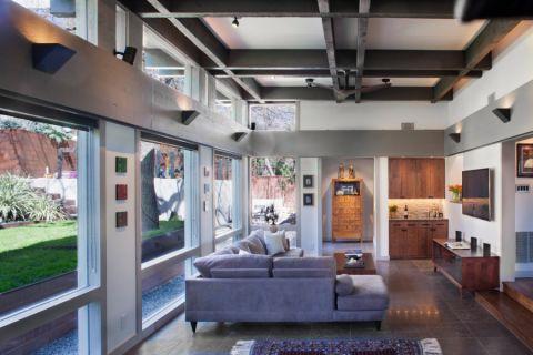 客厅现代风格效果图大全2017图片_土拨鼠优雅雅致客厅现代风格装修设计效果图欣赏