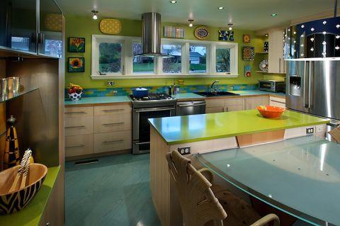 厨房现代风格效果图大全2017图片_土拨鼠完美迷人厨房现代风格装修设计效果图欣赏