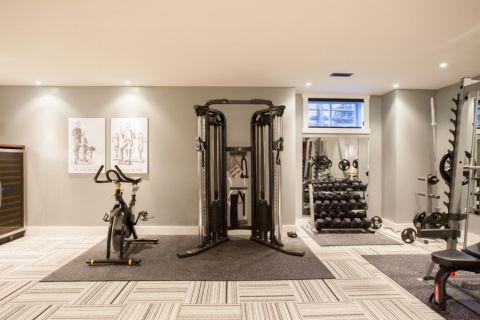 健身房现代风格效果图大全2017图片_土拨鼠个性唯美健身房现代风格装修设计效果图欣赏