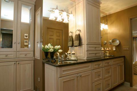 浴室美式风格效果图大全2017图片_土拨鼠简约个性浴室美式风格装修设计效果图欣赏
