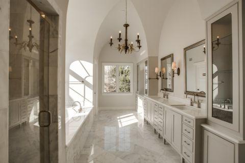 浴室美式风格效果图大全2017图片_土拨鼠温暖摩登浴室美式风格装修设计效果图欣赏
