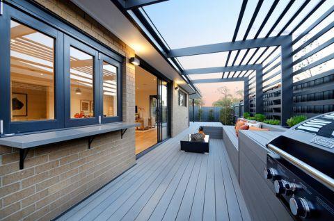 阳台现代风格效果图大全2017图片_土拨鼠简约自然阳台现代风格装修设计效果图欣赏