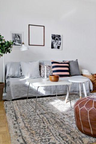 2018北欧30平米效果图 2018北欧三居室装修设计图片