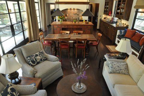 客厅地中海风格效果图大全2017图片_土拨鼠精致舒适客厅地中海风格装修设计效果图欣赏