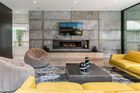 客厅现代风格效果图大全2017图片_土拨鼠简洁质朴客厅现代风格装修设计效果图欣赏