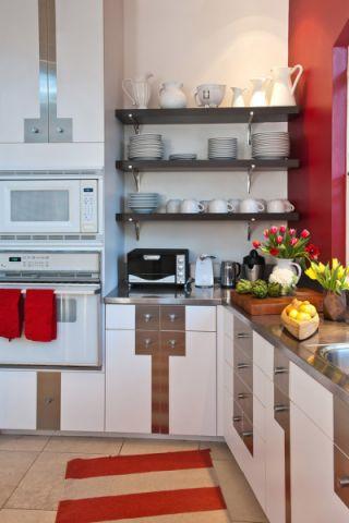 厨房混搭风格效果图大全2017图片_土拨鼠休闲质感厨房混搭风格装修设计效果图欣赏