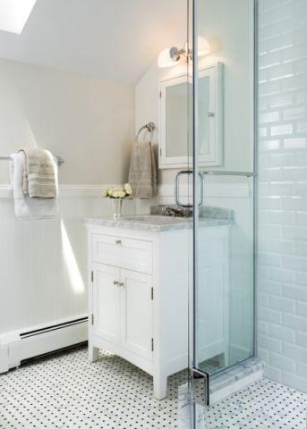 浴室美式风格效果图大全2017图片_土拨鼠个性沉稳浴室美式风格装修设计效果图欣赏