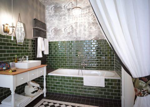 浴室混搭风格效果图大全2017图片_土拨鼠极致时尚浴室混搭风格装修设计效果图欣赏