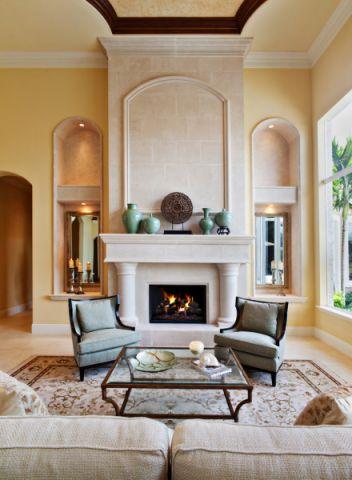 客厅地中海风格效果图大全2017图片_土拨鼠唯美质朴客厅地中海风格装修设计效果图欣赏