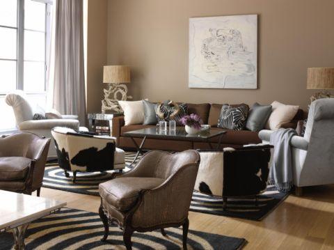 客厅美式风格效果图大全2017图片_土拨鼠休闲清新客厅美式风格装修设计效果图欣赏