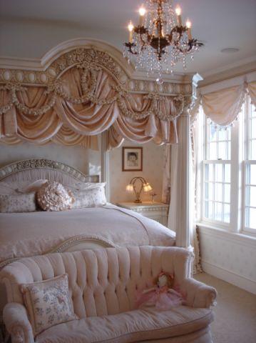 卧室美式风格效果图大全2017图片_土拨鼠浪漫时尚卧室美式风格装修设计效果图欣赏