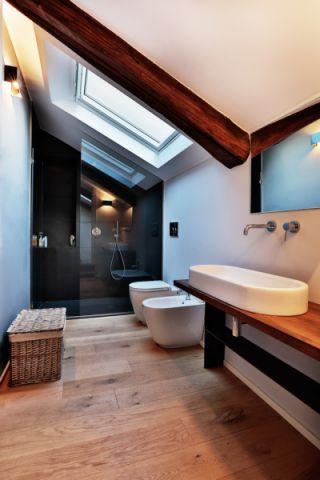 浴室现代风格效果图大全2017图片_土拨鼠古朴格调浴室现代风格装修设计效果图欣赏