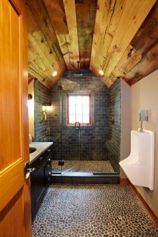 浴室美式风格效果图大全2017图片_土拨鼠典雅休闲浴室美式风格装修设计效果图欣赏