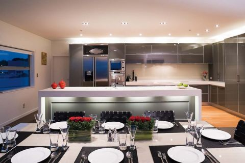 厨房现代风格效果图大全2017图片_土拨鼠浪漫质朴厨房现代风格装修设计效果图欣赏
